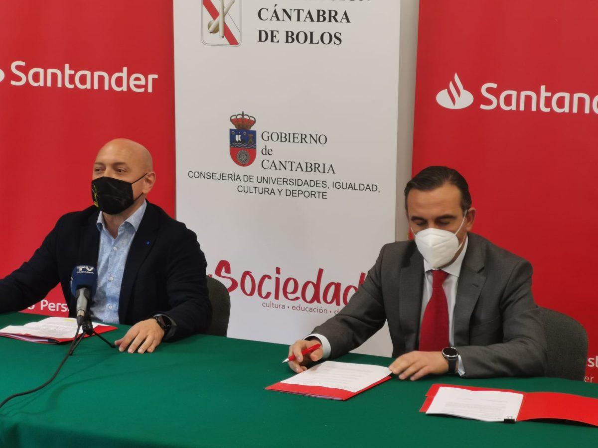 Banco Santander y Federación Cántabra de Bolos