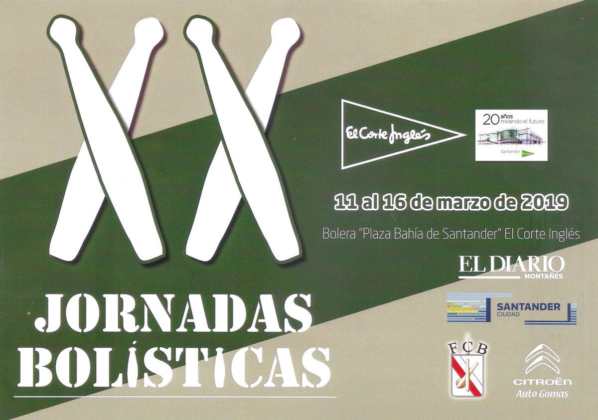 Cartel Jornadas Bolísticas El Corte Inglés 2019